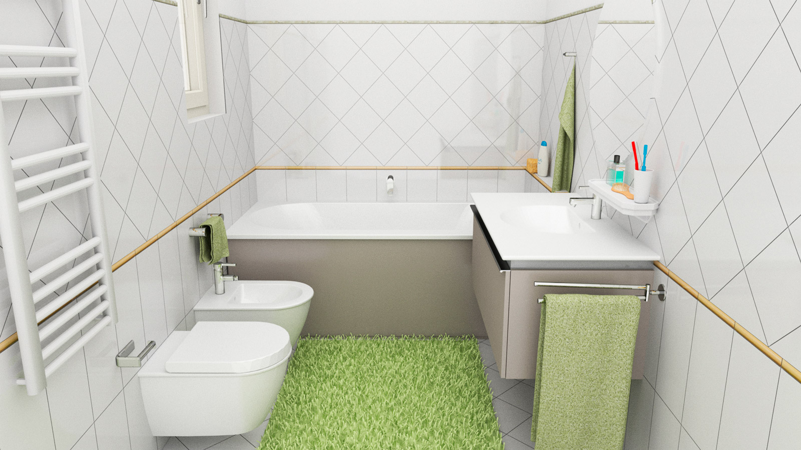 10D rendering software for bathroom interior design and covering