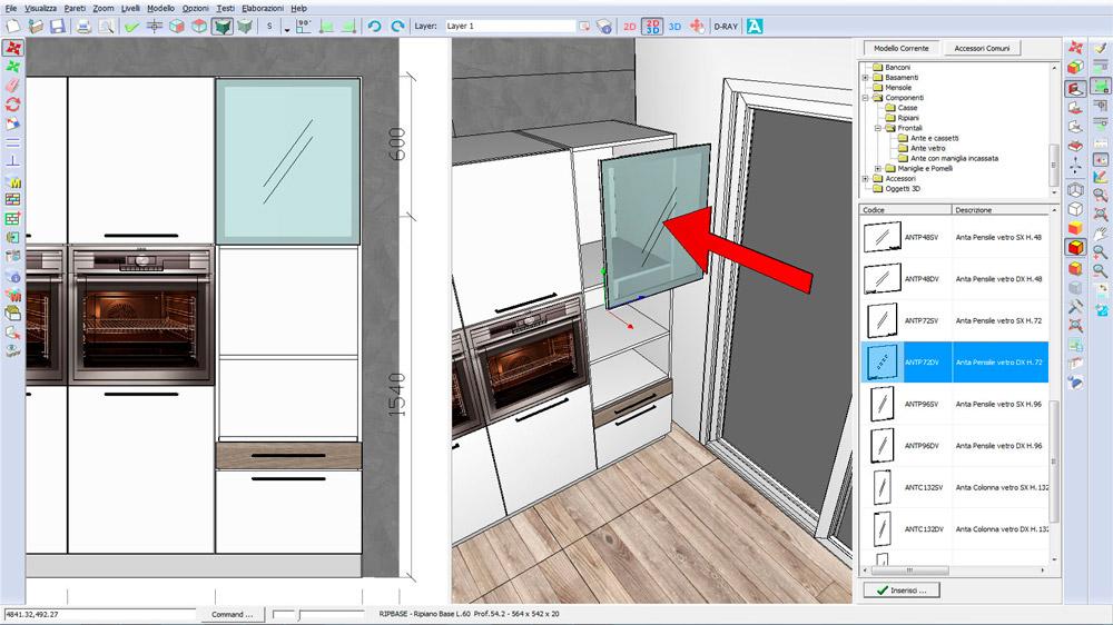 il software 3d di progettazione cucine per designer all