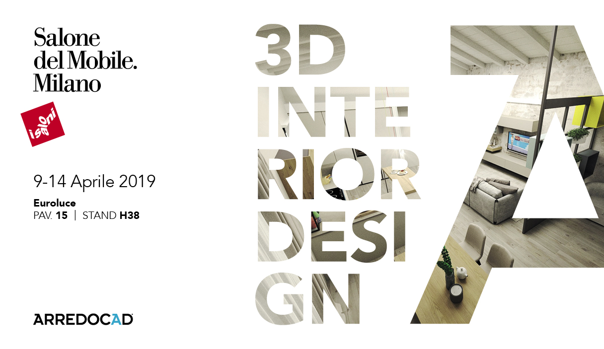 Salone del Mobile Milan – Euroluce 2019. Visit us and find out the new rendering engine of ArredoCAD!