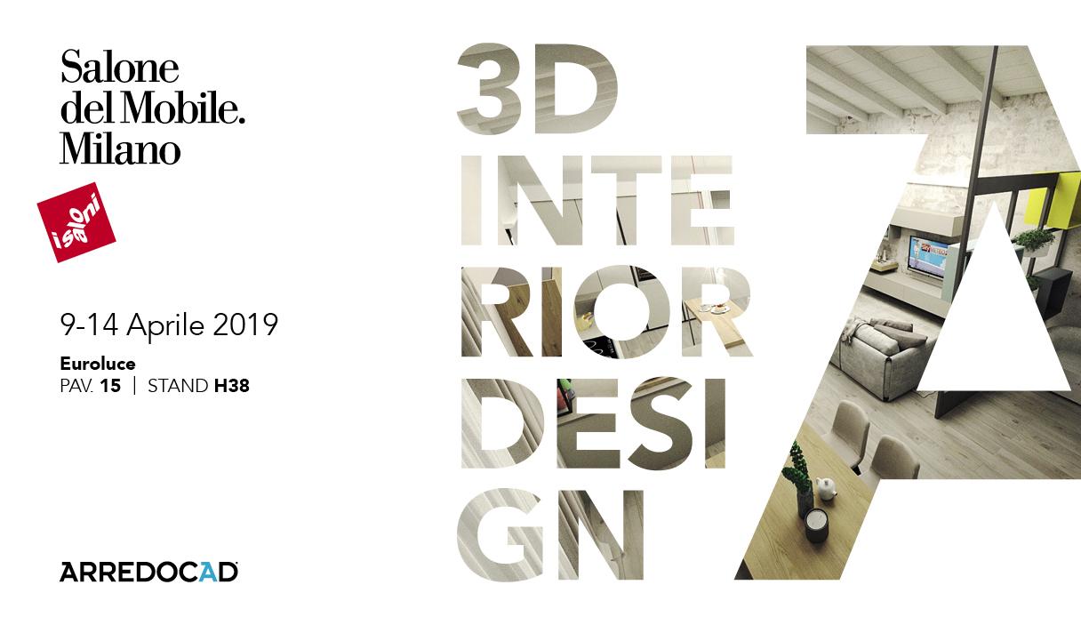 Salone del Mobile di Milano - Euroluce 2019. Vieni a scoprire il nuovo motore di rendering di ArredoCAD!